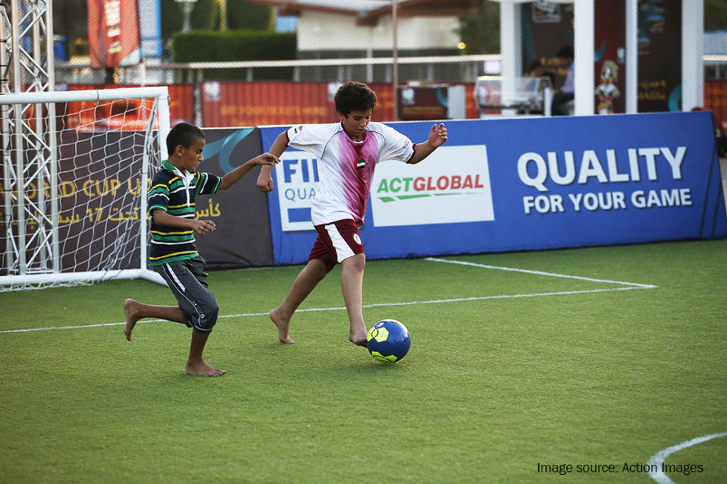 FIFA Preferred Producer Act Global provides synthetic turf football pitch  for fans and visitors.
