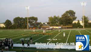 Bishop Foley, ProGrass, Act Global, synthetic turf, artificial turf, football turf, sports turf, sports field, FIFA, football, American football